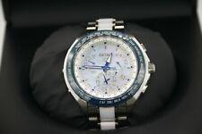 Seiko Astron Dual Time 8X53-0AA0-2 GPS Solar Titanium Ceramic Mother of Pearl