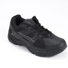 AVIA MENS BLACK LEATHER ATHLETIC WALKING SHOE SNEAKERS 8 M