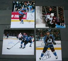 Lot of 4 Autographed Colorado Avalanche 8x10 Photos  Odgers Brisebois Mercier