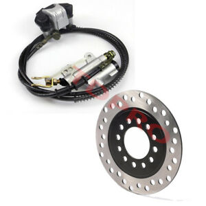 Rear Disc Brake Assembly Master Cylinder Caliper + Disc Rotor for Scooter Quad