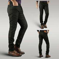 Trailblazer men's biker motorcycle slim jeans seamless design with aramid fibre