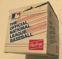 Rawlings National League NL 1982-85 Chub Feeney Vintage White Box Baseball