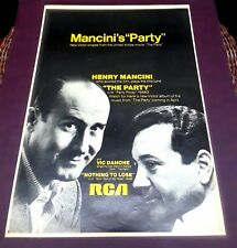Henry Mancini * Scarce 1968 Trade Ad Rca Pin-Up Poster * The Party Peter Sellers