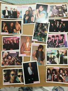80's 0r 90's Music Post Cards David Bowie, The Police, Motley Crew, Billy Idol