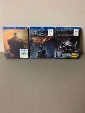 Batman Begins/dark Knight/dark Knight Rises Blu-ray All Steelbooks
