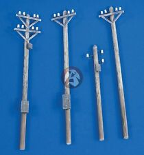 Verlinden 1/35 Power Transmission Line Utility Poles (4 pieces) [Diorama] 2189