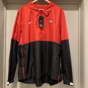 Nike Ohio State Buckeyes On Field Half-Zip Coaches Jacket CQ5119-657 Men's 2XL