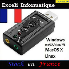 7.1 Karte Audio Micro 3D Soundkarte äußere USB-Schlüssel 3d Stereo