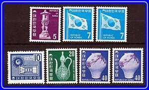 KOREA SOUTH 1969-74 DEFINITIVES SC#637//651 MNH CV$42.60++