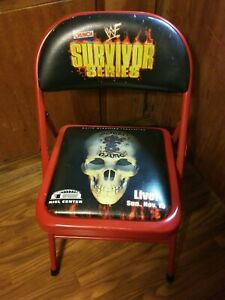 1998 WWF Survivor Series deadly game Ringside Folding Chair ST LOUIS kiel center