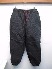 Marlboro Unlimited Men's Nylon Shell Fleece Insulated Black Sweat Pants (Size M)