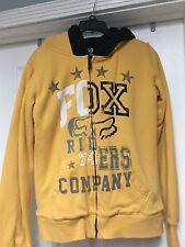 Fox women's fleece lined yellow jacket size small