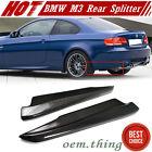 Carbon 3-Series BMW E92 E93 M3 Splitter Rear Side Bumper Lip Spoiler 2013 2 Pcs