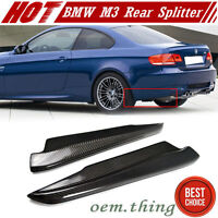 Carbon 3-Series BMW E92 E93 M3 Splitter Rear Side Bumper Lip Spoiler 2013 2 Pcs