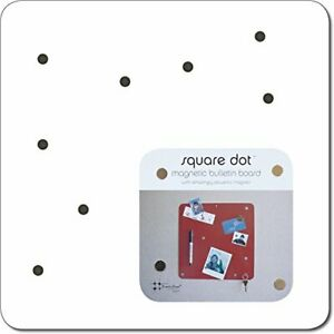 """Crate & and Barrel SQUARE DOT  MAGNET MESSAGE BOARD-WHITE-NEW! 12"""" Square-NEW"""