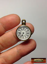 M00139 MOREZMORE Doll Pocket Watch Miniature 18 mm Dollhouse DIY Clock Prop NDY