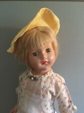 "Effanbee 21""Antique Ann Shirley Composition Doll In Antique Clothing  Ex Cond"