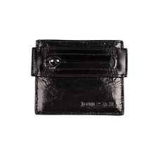 DIESEL Men's JOHNAS I Genuine Leather Cracked Effect Credit Card / ID Case