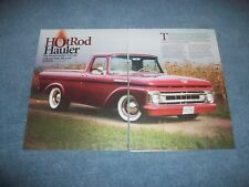 "1961 Ford F-100 Unibody Shortbed RestoMod Article ""Hot Rod Hauler"" F100"