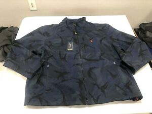NWT $228.00 Polo Ralph Lauren Mens Performance Softshell Jacket Blue Camo Sz 3XB