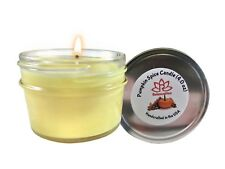 Organic SOY WAX CANDLE (4 OZ) PUMPKIN Spice Scent Gift For Her/Him Fast Shipping