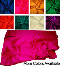100% Pure Natural Silk Hand Loom Fabric Solid Colours Sold by Yardage SUK