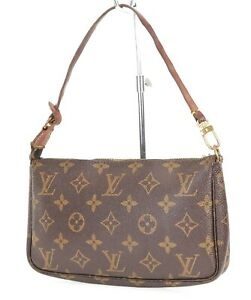 Authentic LOUIS VUITTON Accessory Pochette Monogram Hand Bag #38944