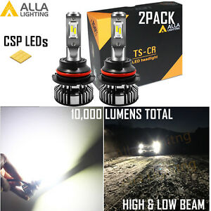 Alla Lighting 9004 10000lm LED TS CR hd-light  Conversion Kit Bulb, 6000K Xenon