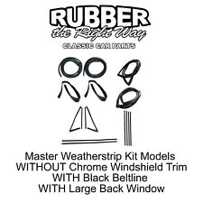 1967 - 1972 Chevy & GMC Truck Master Weatherstrip Kit Large Back Glass