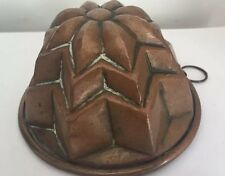 ANTIQUE VICTORIAN COPPER JELLY MOULD @ 1890