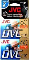 DIGITAL VIDEO CASSETTE>PACKAGE OF 2>MINI DV 60>NEW IN WRAPPER>FREE U.S. SHIPPING