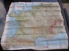 More details for original ww2 raf silk escape, evasion map, zones of france, mar 1944 d-day