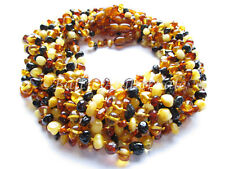 Amber Wholesale, Lot of 10 Multicolor Polished Baltic Amber Baby Necklaces