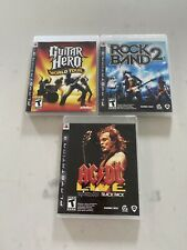 Rock Band 2, AC/DC Live guitar hero Sony PlayStation 3 PS3 VideoGame Complete