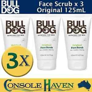 Bulldog Face Scrub: Original 125mL x 3 - Bull Dog w/ Aloe Camelina Green Tea