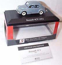 Renault 4CV Model car 1:43 SCALE 1951 IXO ATLAS 2891013 VOITURES MYTHIQUES