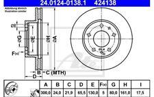 ATE Juego de 2 discos freno Antes 300mm ventilado para CITROEN JUMPER
