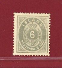 Iceland 1876 #10, 6a Gray, Mint, NG, SCV $150.00