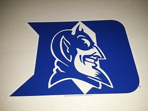 "Duke Blue Devils Sticker Decal 9"" x 7""   ( set of 12 stickers )"