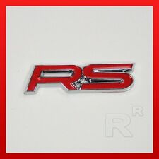 Red RS TRUNK BADGE Camaro Sport Lid Emblem Fender Sticker Logo Decal Chevrolet