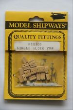 Model Shipways Fittings MS0305 Single Block 7mm 20 Count Wooden NEW Old Stock