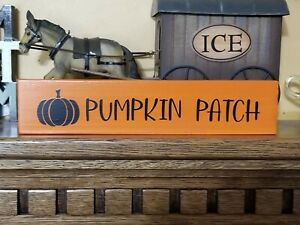 """Rustic Fall PUMPKIN PATCH distressed Primitive handcrafted home décor sign 12"""""""