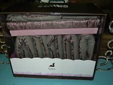Petunia Pickle Bottom Dewberry Brocade Baby Girl Nursery Crib Set 5 Piece $580