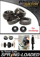 POWERFLEX BLACK Front Strut Top Mounts+BEARINGS -10mm for VW Golf Mk4 R32 01-04