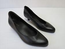 Ziera Leather Flat shoes, Black, Size 38 W AU 7 ALMOST NEW