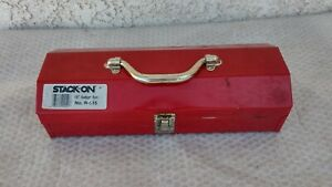 """STACK ON PRODUCTS 15"""" METAL UTILITY GADGET TOOL CHEST BOX"""