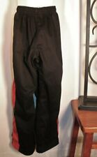 Boys Black with Red Stripe on sides Martial Arts pants size #2 by Pro Force