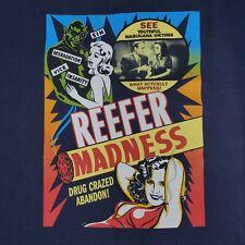 Vintage Reefer Madness Movie Promo T Shirt EUC Men's Size L Marijuana