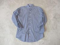 Peter Millar Button Up Shirt Adult Medium Blue Black Plaid Office Casual Mens