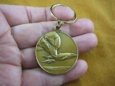 (MD-44) Bottlenose Dolphin dolphins Bronze MEDALLION KEYCHAIN key chain Jewelry